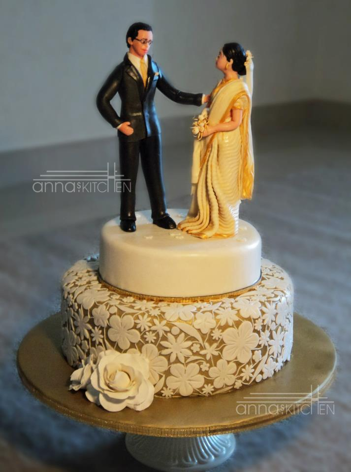 Cake Images With Name Divya : The Bride and the Groom Cake Divya Vithika Wedding Planners