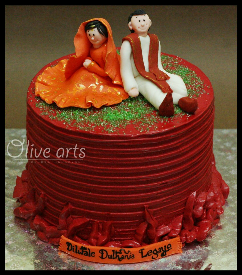 Cake Images With Name Divya : DDLJ Cake Divya Vithika Wedding Planners