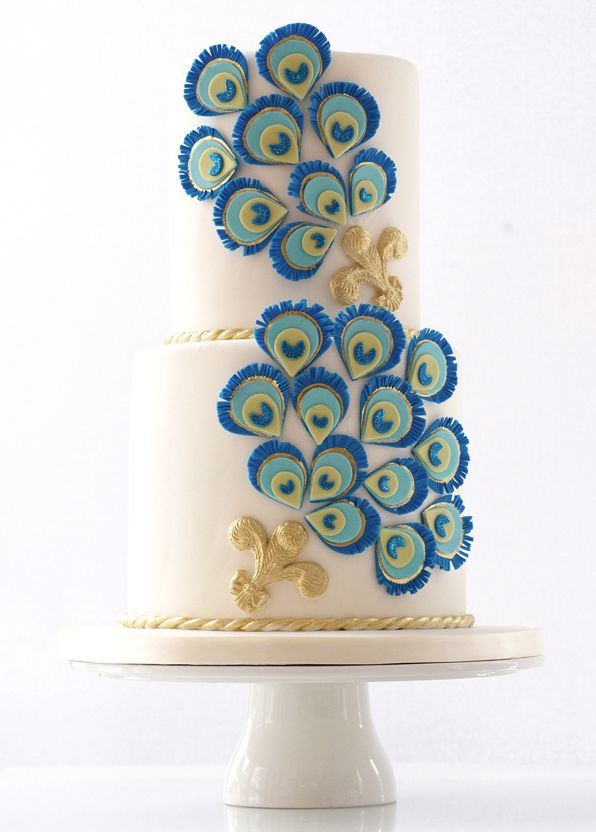Peacock themed cake 15