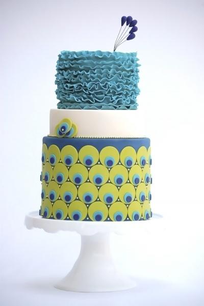 Peacock themed cake 16