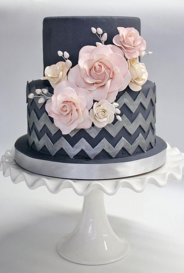 blackwhite and grey cakes 45