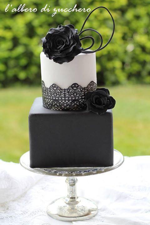 blackwhite and grey cakes 47