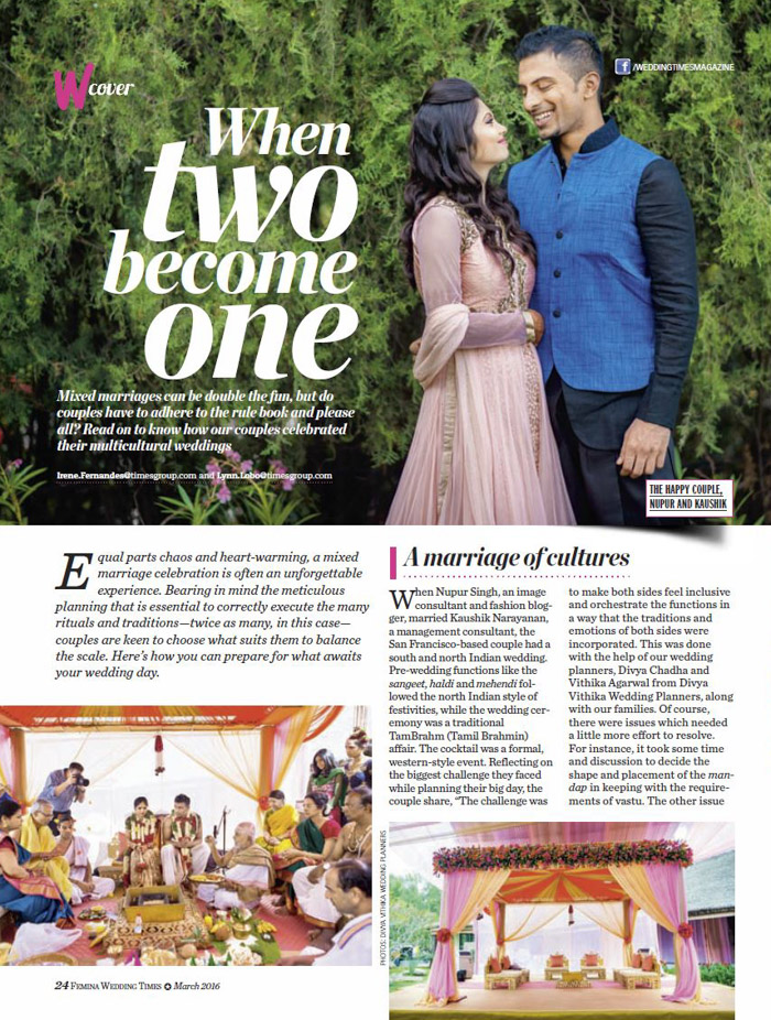 Wedding Times Article